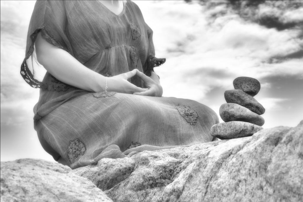 Meditation fotografering